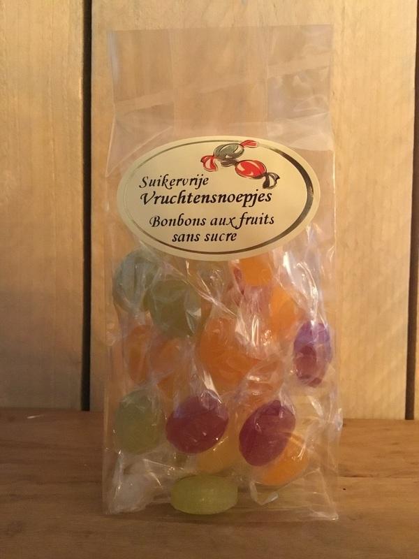 Suikervrije fruitsnoepjes 150gr EDEL