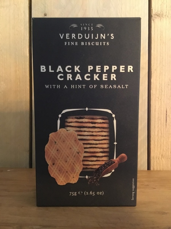 Black pepper & sea salt crackers 85gr VERDUIJN'S