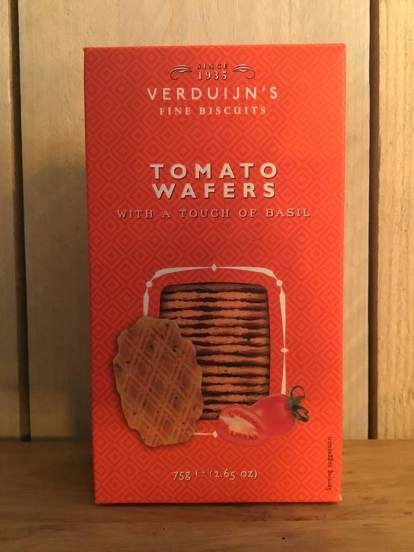 Cheese biscuits tomaten & Basil 75gr VERDUIJN'S