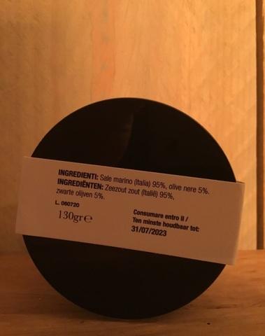 Zout met zwarte olijven 130gr CASALE PARADISIO