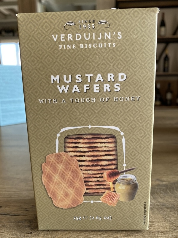 Mustard wafers with a touch of honey 75gr