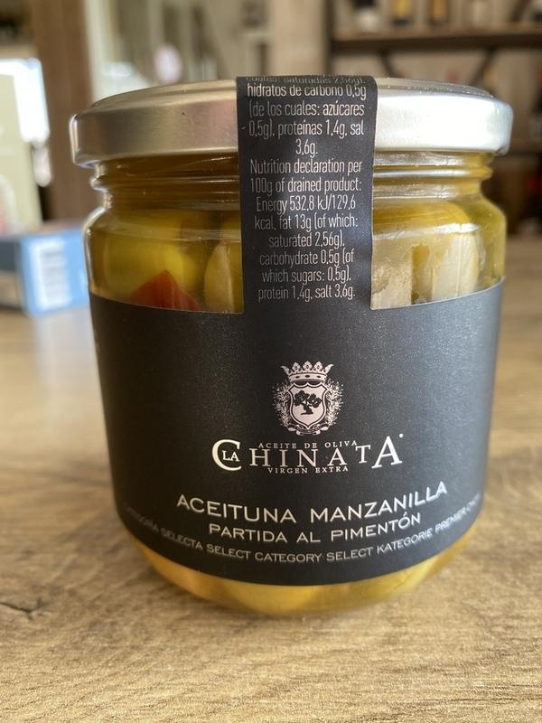 Olive manzanilla garlic & rosemary 320gr LA CHINATA