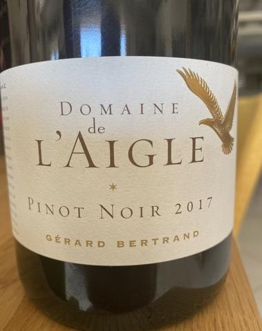 Domaine de l'aigle pinot noir, IGP Haute vallée de l'Aude 2017